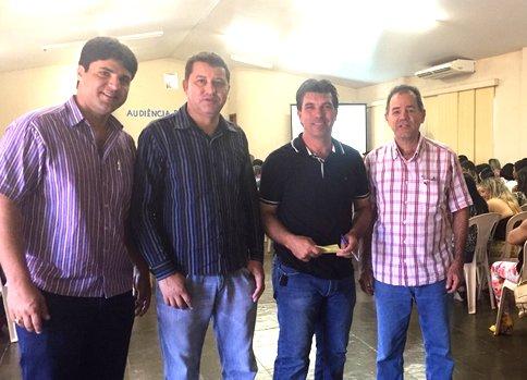 (Esq) João Makhoul, Caetano Neto, Cleidimar Zanotto e Paulo Amaral