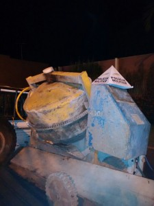 betoneira roubada / foto: PM