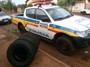 Viatura é utilizada no patrulhamento rural