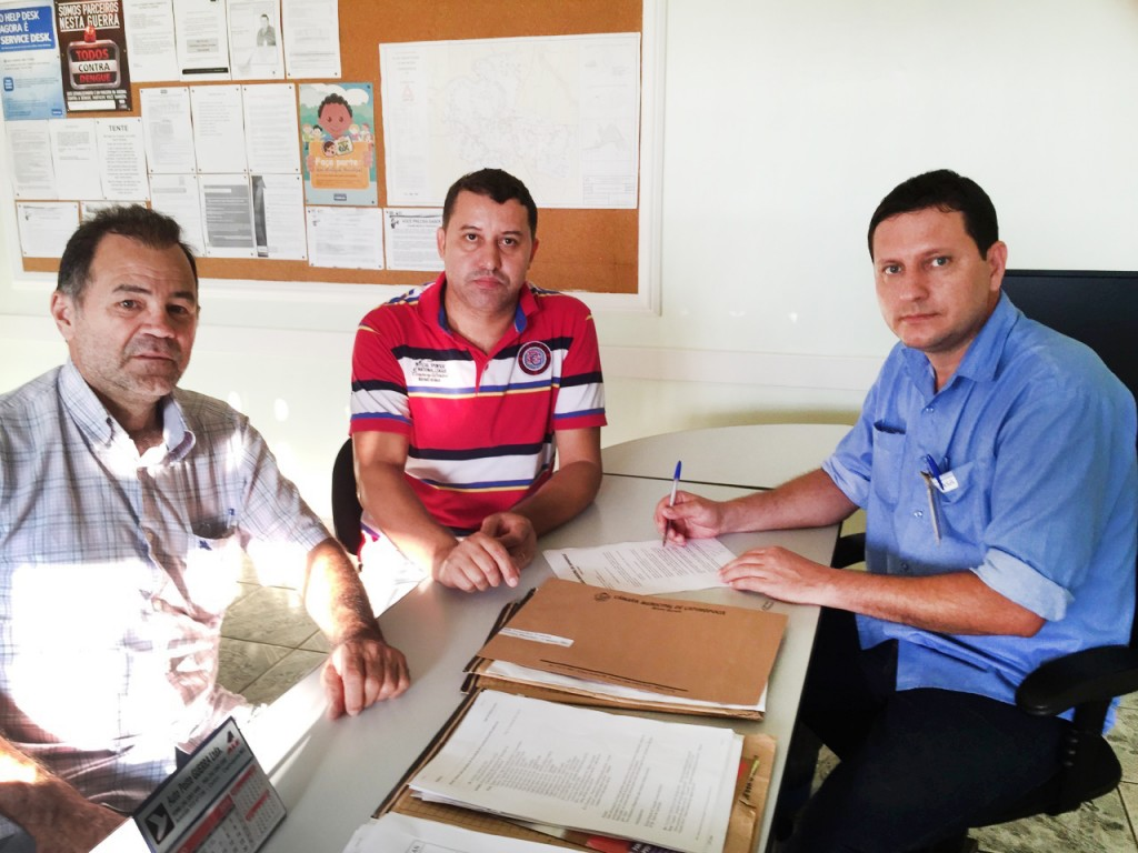 (Esq) Paulo Amaral, Caetano Neto da Luz e Júnior