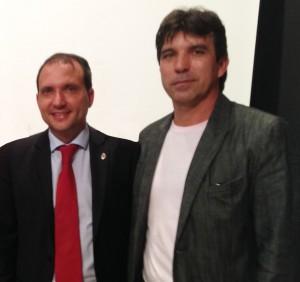 (esq) Deputado Estadual Arnaldo Silva e o vereador  Cleidimar Zanotto