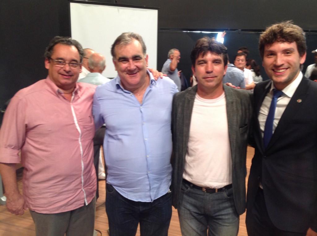 Marcos Melo, Nárcio Rodrigues, Cleidimar e Dep Iran Barbosa ( presidente da comissão extraordinária das águas)