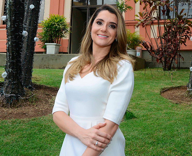 Carolina Oliveira no Servas, entidade de serviço social que preside  / (articleGraphicCredit).Carlos Alberto - 6.jan.2015/Imprensa MG