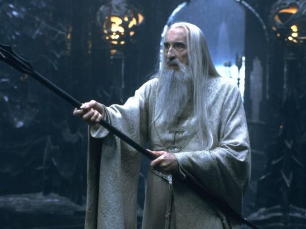 """Ator interpretando - Saruman no filme """"Senhor dos"""