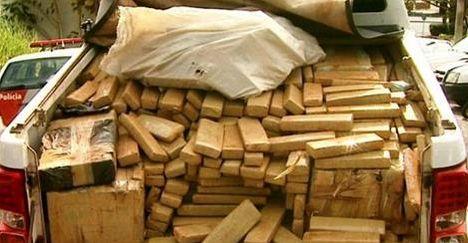 Polícia paulista apreende 608kg de maconha que teriam saído de Uberaba