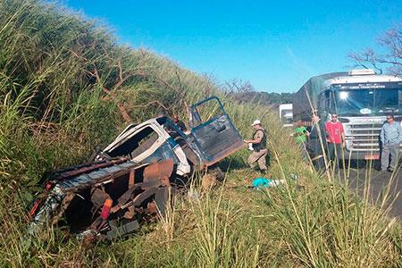 Acidente próximo a Santa Rosa deixa dois feridos e uma morte / Foto: Jairo Chagas