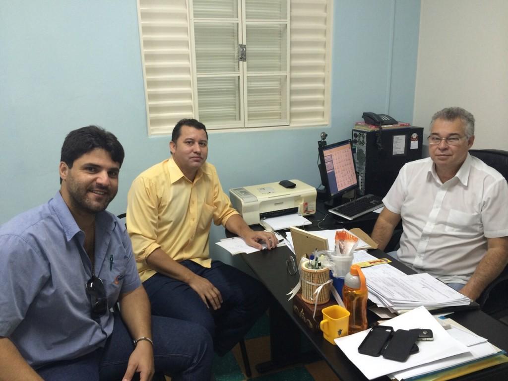 (Esq) João Makhoul, Caetano Neto e Fernando Santana
