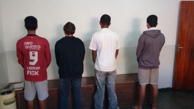 Quadrilha formada por menores de idade é presa em Ituiutaba