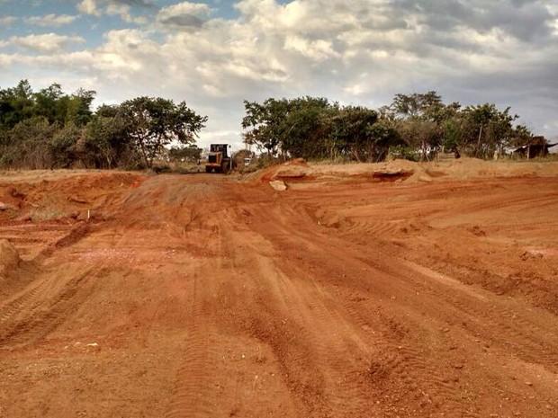 Área desmatada fica em fazenda nas proximidades d  Uberlândia (Foto: Polícia Militar de Meio Ambiente/Divulgação)
