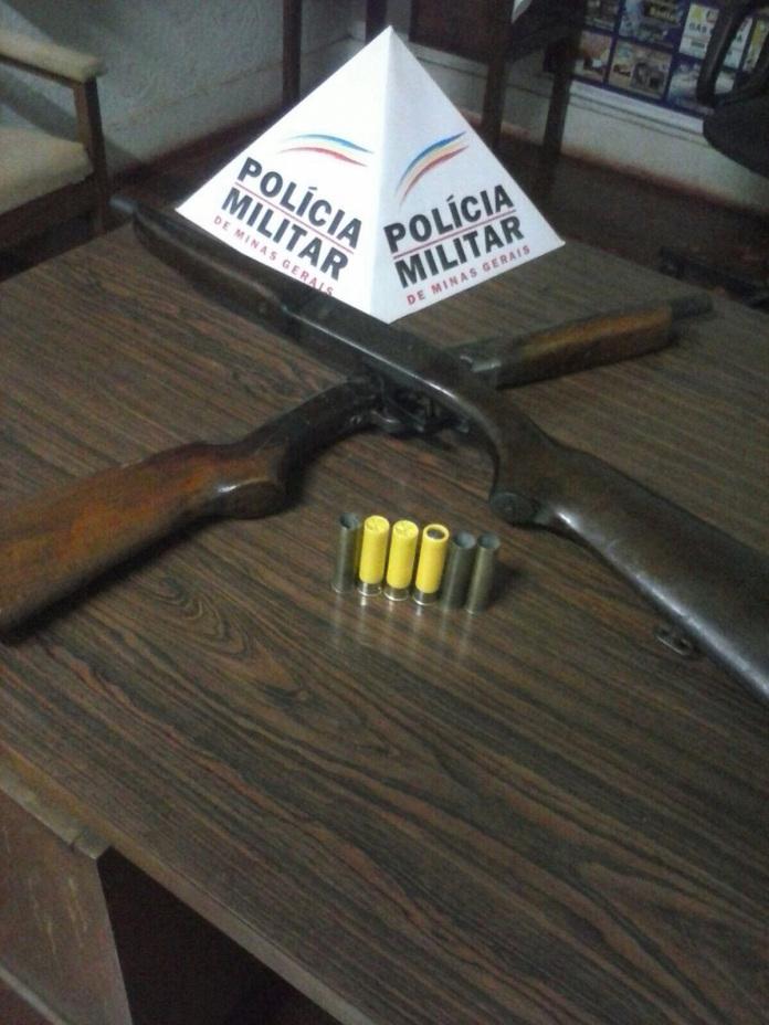 Armas apreendidas em Centralina