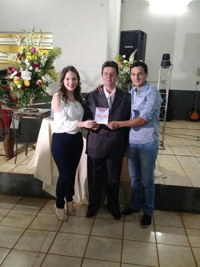 (Esq) Aline, Max Toledo e Luciano Belchior