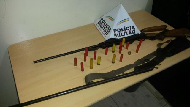 Arma de fogo apreendida pela PM