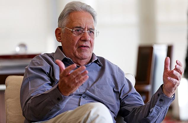 O ex-presidente Fernando Henrique Cardoso, em sua sala no Instituto FHC