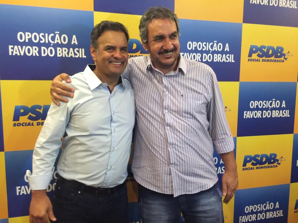 (esq) Aécio Neves e Jorginho Jacoub em Belo Horizonte