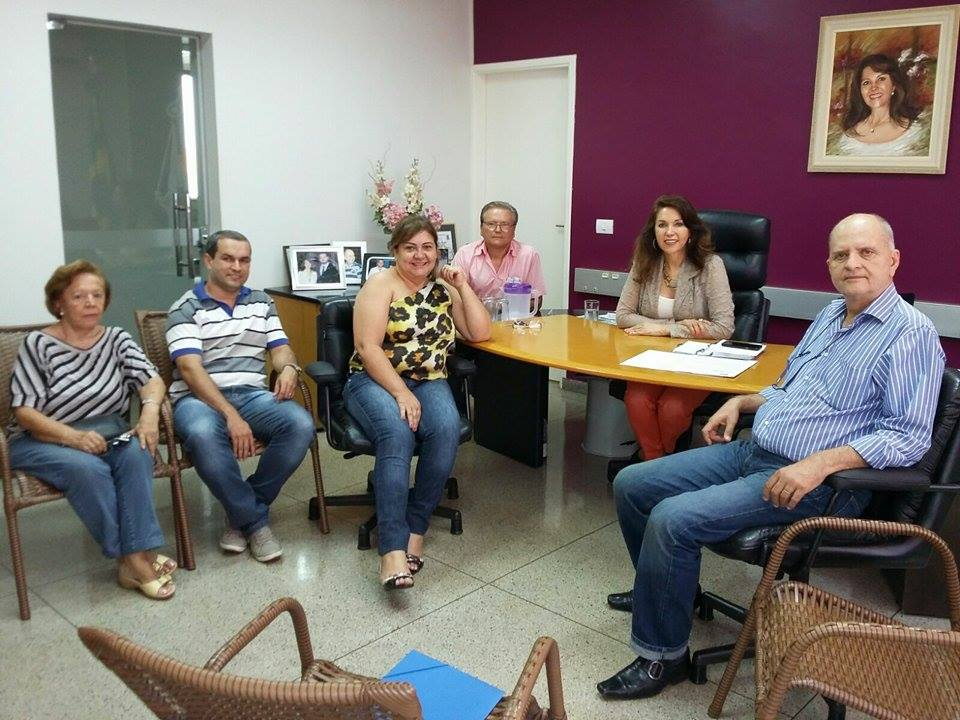 Diretoria da Aciac - (esq) Marlene Ferreira, Anderson Clayton, Sandra, José Joaquim, Dinair Isaac e Luiz Isaac