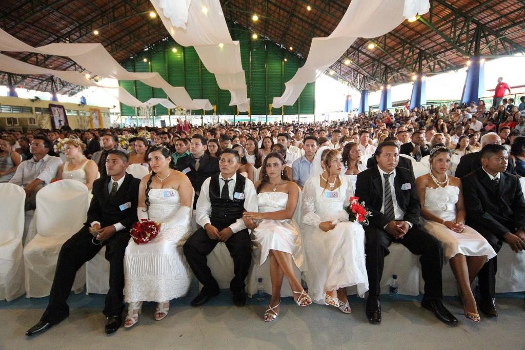 Casamento comunitário / divulgação