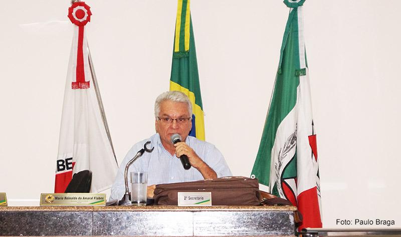 Mário Flabes na Câmara Municipal de Capinópolis