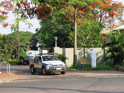 Polícia Militar foi mobilizada e imediatamente iniciou rastreamento na tentativa de encontrar os autores do assalto / Foto/Jairo Chagas