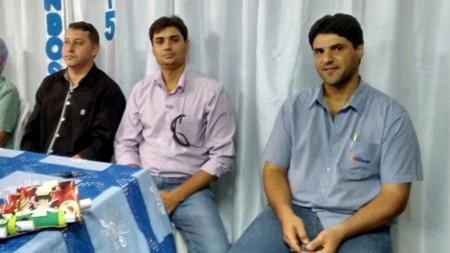 (Esq) Caetano Neto, Jean Carlos e João Makhoul