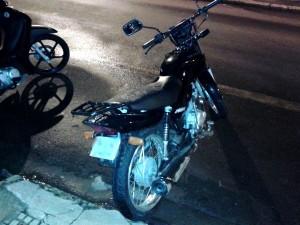 Moto roubada foi recuperada