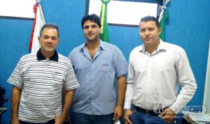 (Esq) Paulo Amaral, João Makhoul e Caetano Neto
