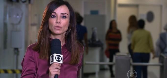 Elaine Bast na reportagem do Jornal Nacional, de 12 de outubro, em que alertou sobre câncer