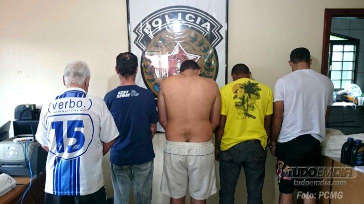 Suspeitos presos / Foto: PCMG - Divulgação
