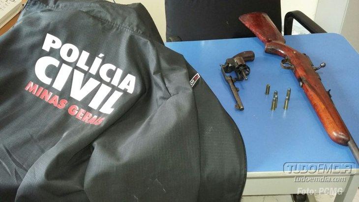 Armas apreendidas / Foto: PCMG
