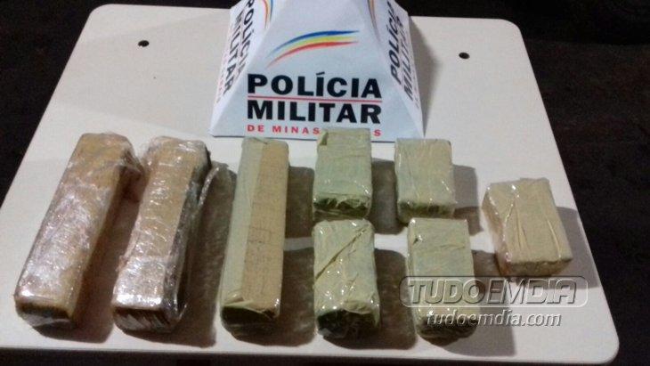 droga apreendida pela PM de Ituiutaba / Foto: Divulgação PM