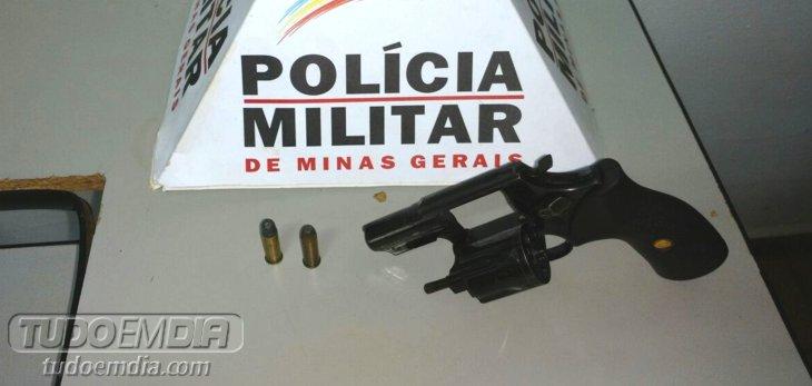 Arma de fogo apreendida em Canápolis