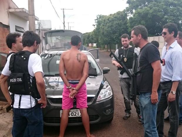 Suspeito foi localizado pela Polícia Civil em Uberlândia (Foto: Polícia Civil de Araxá/ Divulgação)