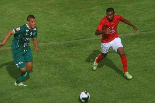 Lance do jogo entre BOA e UEC, em Varginha (Foto: BOA Esporte Clube/Divulgação)