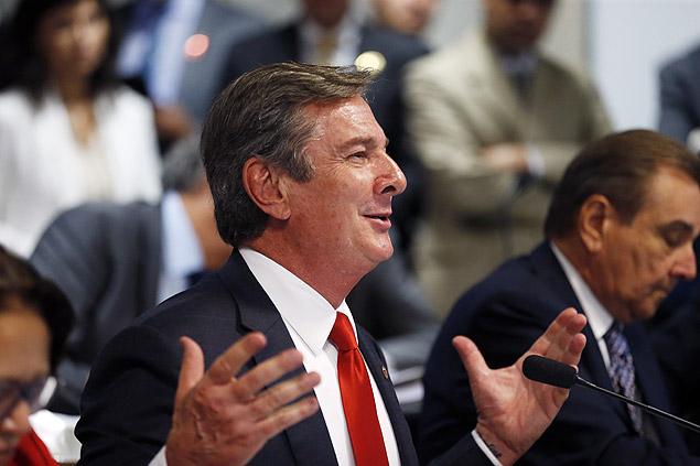 O senador Fernando Collor, alvo de cinco inquéritos na Operação Lava Jato
