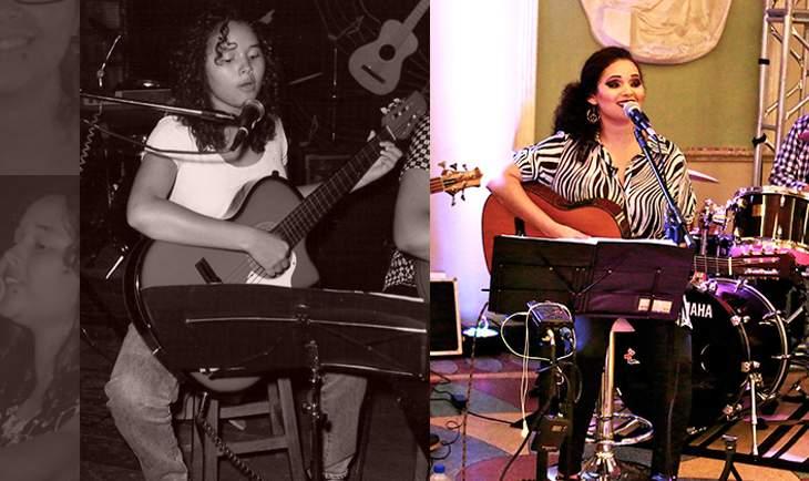 (Esq) Dany Nascimento quando iniciou os estudos musicais em Capinópolis (MG).