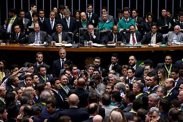 Sessão de votação do impeachment da presidente Dilma Rousseff na Câmara dos Deputados