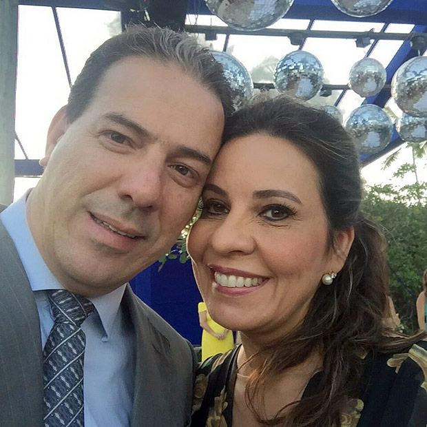 A deputada Raquel Muniz com seu marido, Ruy Muniz