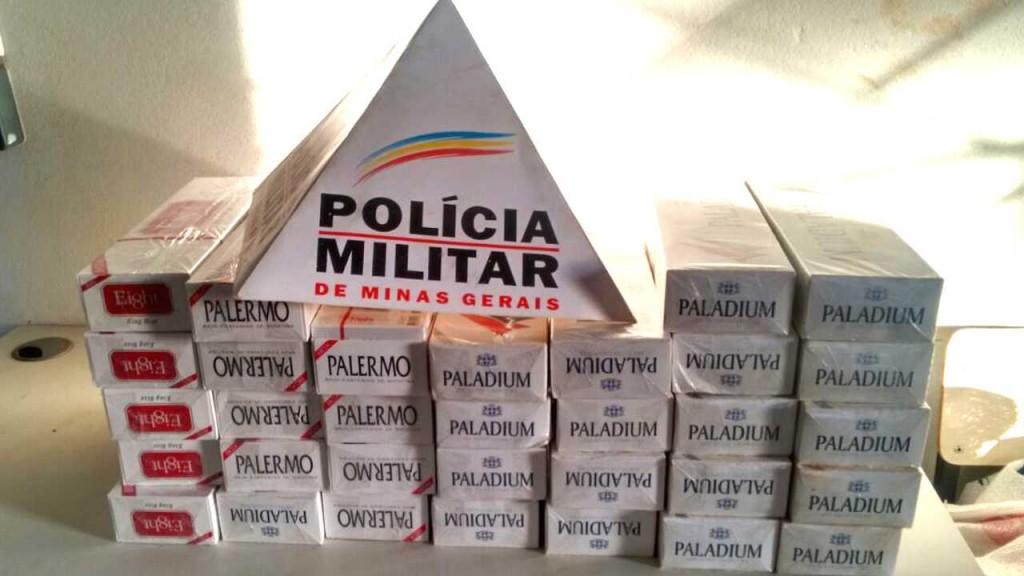ITUIUTABA: 27/04/2016, ás 17:00h. Ao realizar  averiguação de denúncia DDU 181 na Av 31, Centro foram apreendidas 321 carteiras de cigarros oriundos do Paraguai e presa ALAÍDE DA COSTA SILVA, 66 anos.