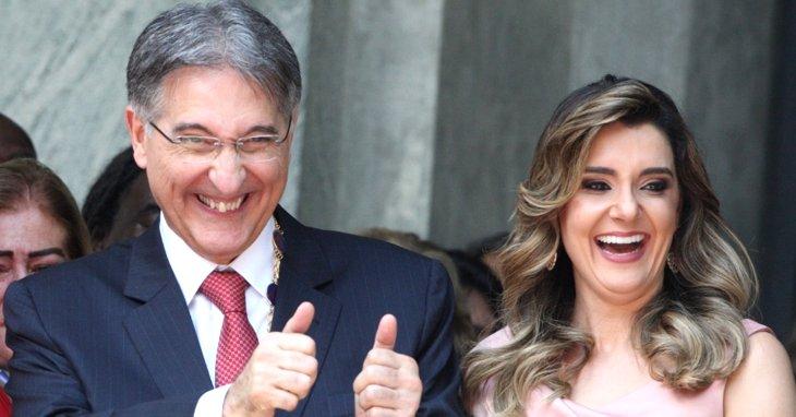 Fernando Pimentel e a esposa