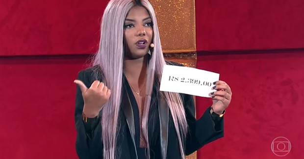 Ludmilla comete gafe ao participar do 'Domingão do Faustão'