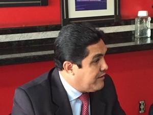 Vereador Márcio Nobre concedeu entrevista nesta quinta-feira (9) (Foto: Stanley Matias/G1)