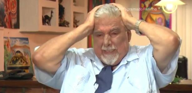 """Em novembro de 2015, Rubén Aguirre concedeu entrevista ao """"Programa do Ratinho"""" e se emocionou ao falar sobre Roberto Bolaños"""
