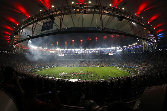 Cerimônia do final da Copra-2014 no estádio do Maracanã, no Rio