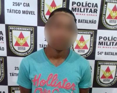 Suspeito preso / Foto: PMMG