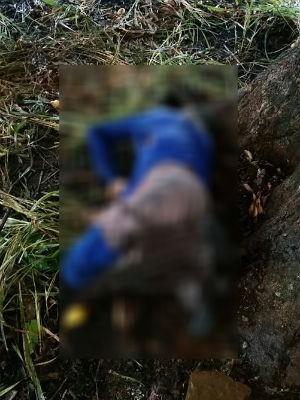 Vítima foi encontrada debaixo de árvore com queimaduras (Foto: Polícia Militar/Divulgação)