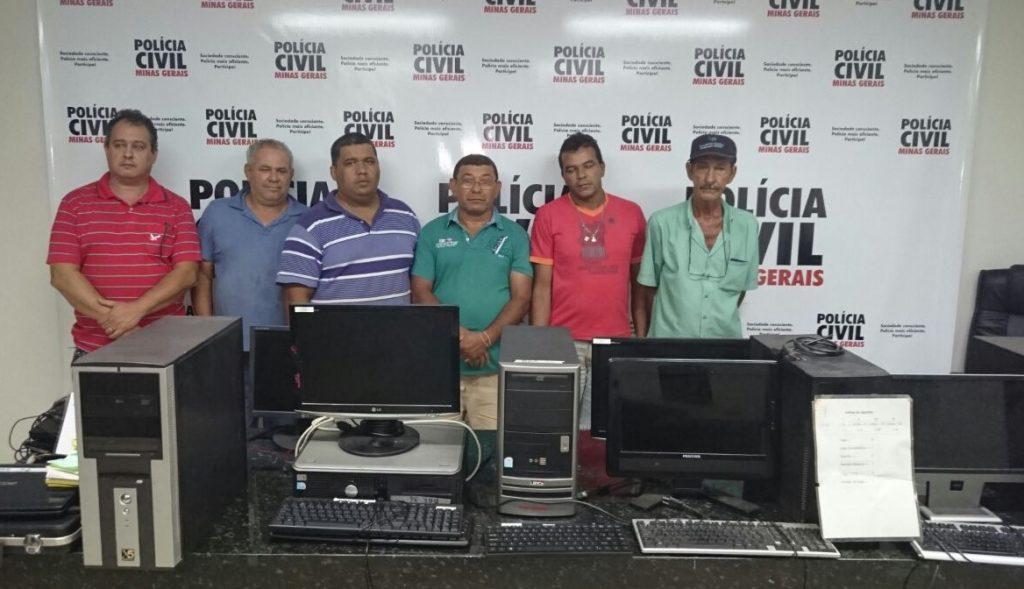 Presos na operação da PC em Ituiutaba / Foto: PCMG divulgação