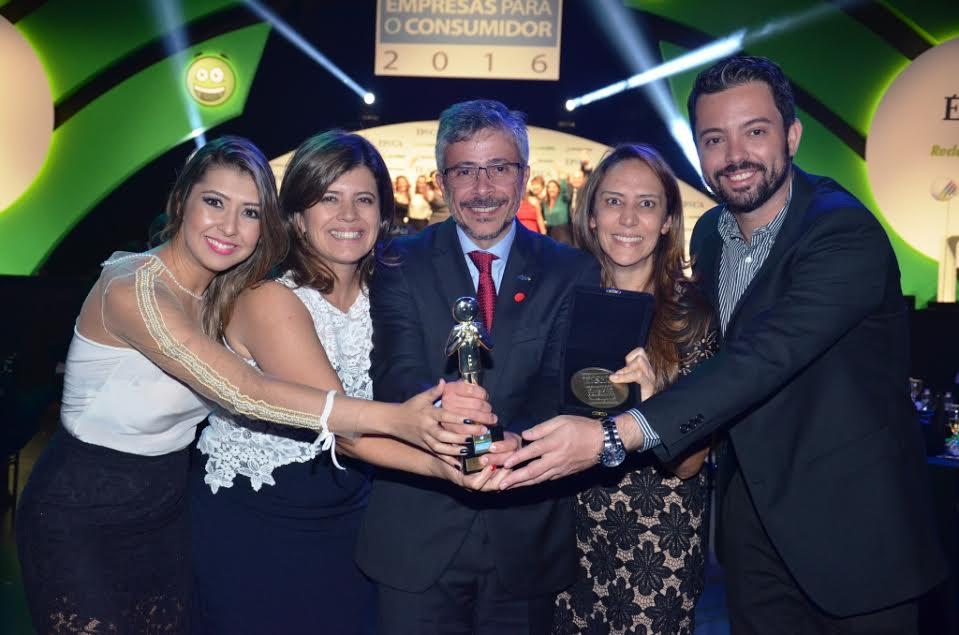 O presidente Jean Borges e a equipe Algar Telecom / Foto: Nágila Rodrigues