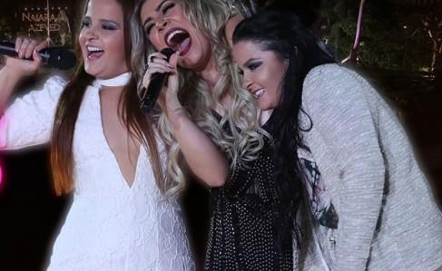 Naiara Azevedo com Maiara &Maraisa no clipe de '50 reais'