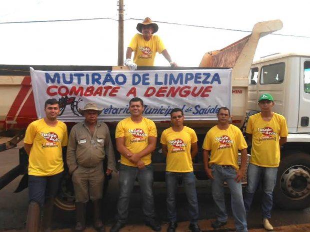 Equipe foi reforçada no mês de Novembro para realização do Mutirão de Limpeza