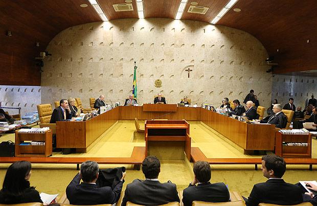 O plenário do Supremo Tribunal Federal, em Brasília