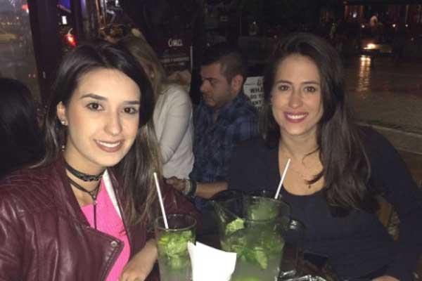 Maysa Ramos Brito viajou com a amiga Hanna Pfeffer (Foto: Acervo Pessoal)
